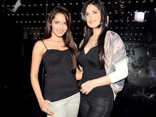 Shazahn And Zarine for promotion of Housefull 2