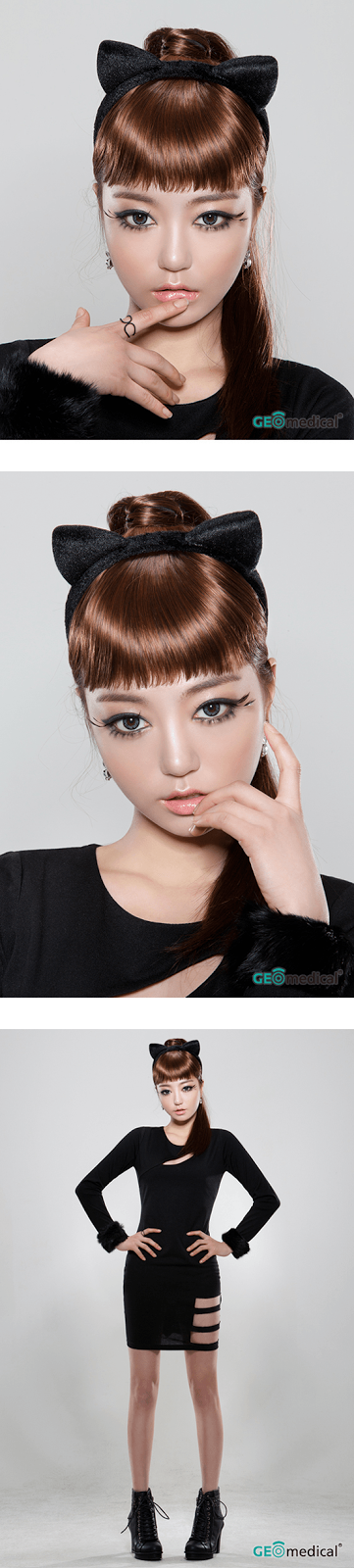 Geo HoliCat Sexy Cat Grey Circle Lenses (Colored Contacts)