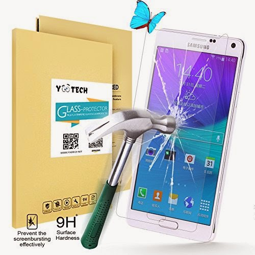 Yootech SAMSUNG GALAXY NOTE 4 Tempered Glass Screen Protector