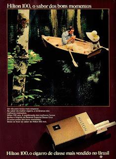 cigarros Hilton, propaganda anos 70; história decada de 70; reclame anos 70; propaganda cigarros anos 70; Brazil in the 70s; Oswaldo Hernandez;