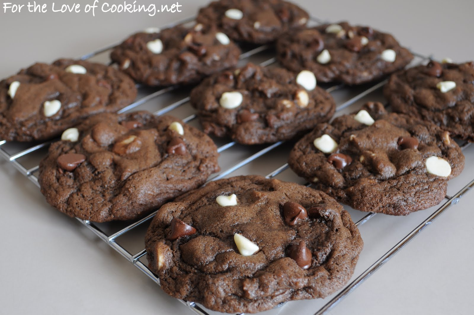 Triple Chocolate Cookies | For the Love of Cooking