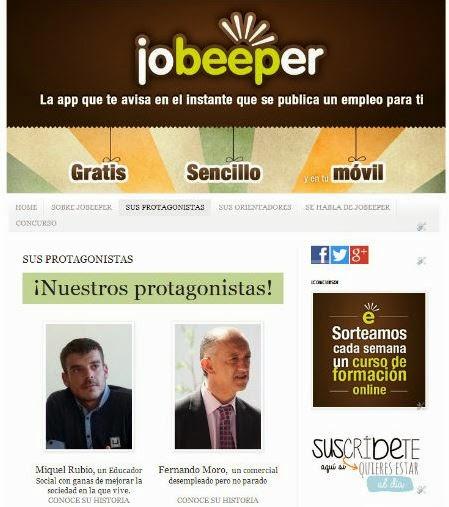 Los protagonistas de Jobeeper