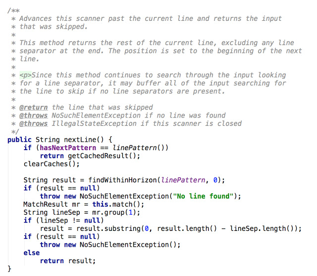 Java Scanner Example from Boon Java Developer