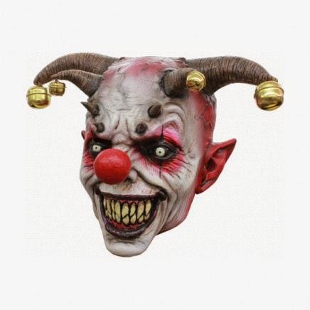Máscara de látex Bufón Diabólico