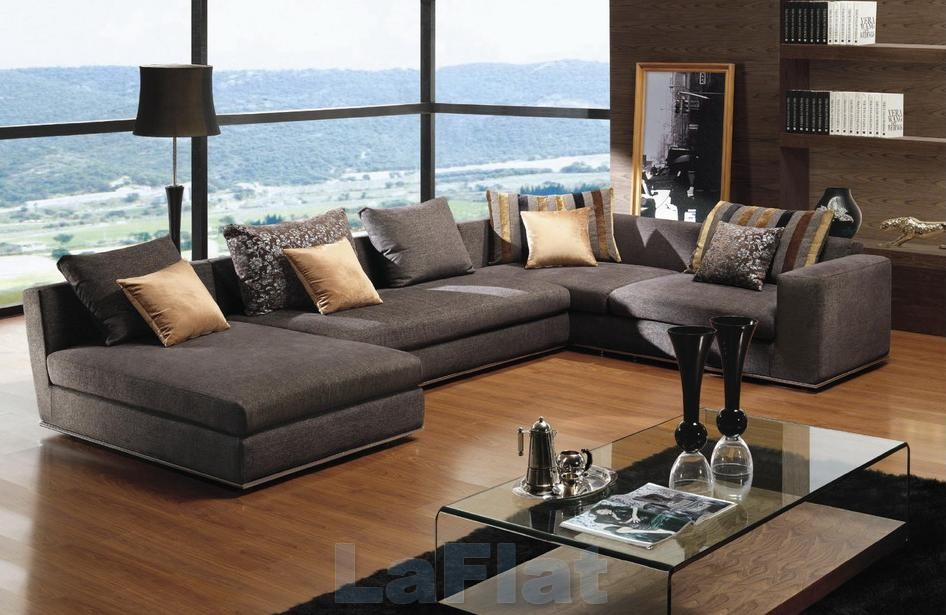 Modern living room interior home design for Modern living room sofa