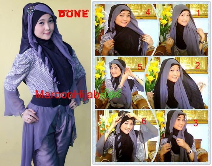 Tutorial hijab segi empat trendy untuk remaja