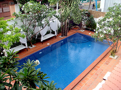 The pool at Hilary's Boutique Hotel