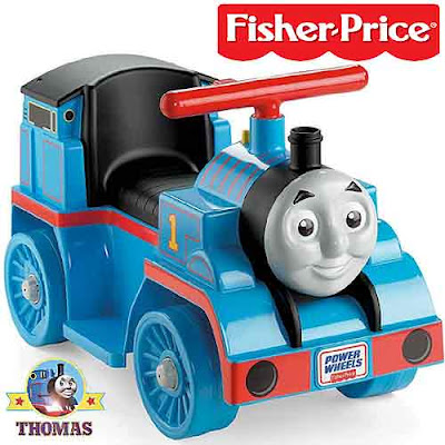 Fisher Price Thomas the tank engine ride on toy car vehicle travels at a maximum speed of 2 mph