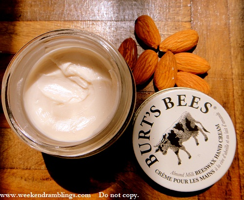 burts bees almond milk beeswax hand creme cream reviews ingredients