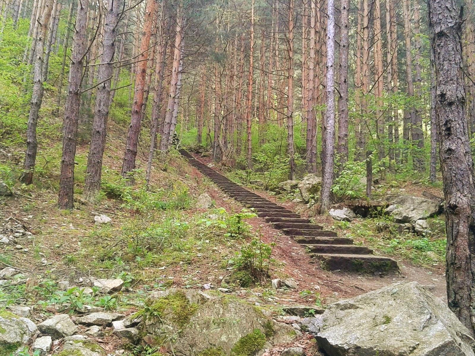 Началото на екопътека Горица и Овчарченския водопад