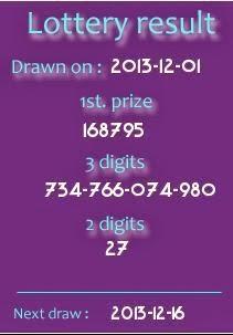 Thai Lotto Result 01 12 2013