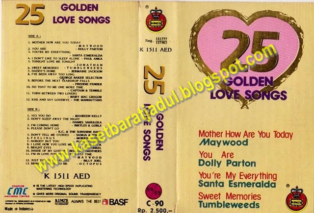 25 Golden Love Songs (Kings Records)