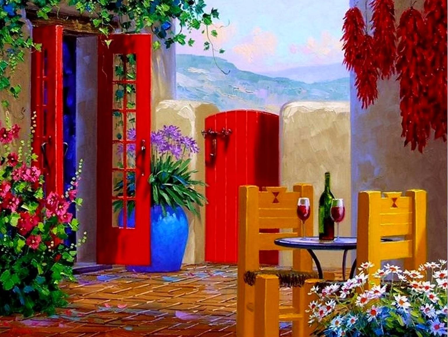 Cuadros modernos pinturas y dibujos imagenes de flores - Cuadros modernos para pintar ...
