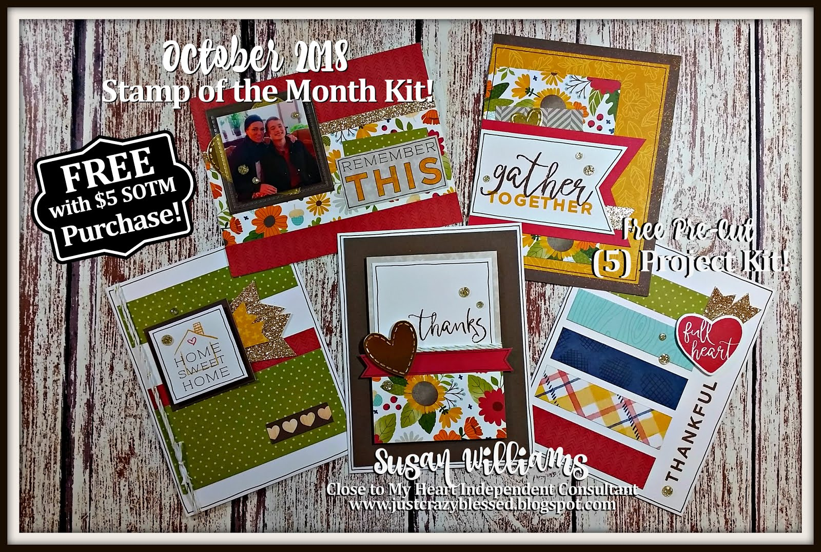October 2018 Stamp of the Month Workshop!