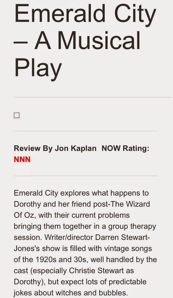 NOW Magazine Emerald City review