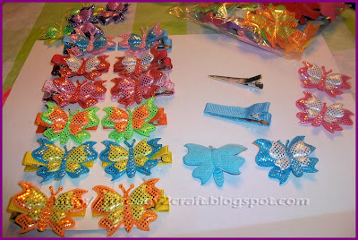 Sparkling butterfly applique hair accessory