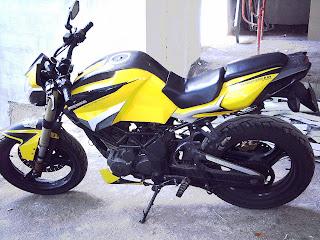 Modifikasi Tiger Tahun 2011 Kuning
