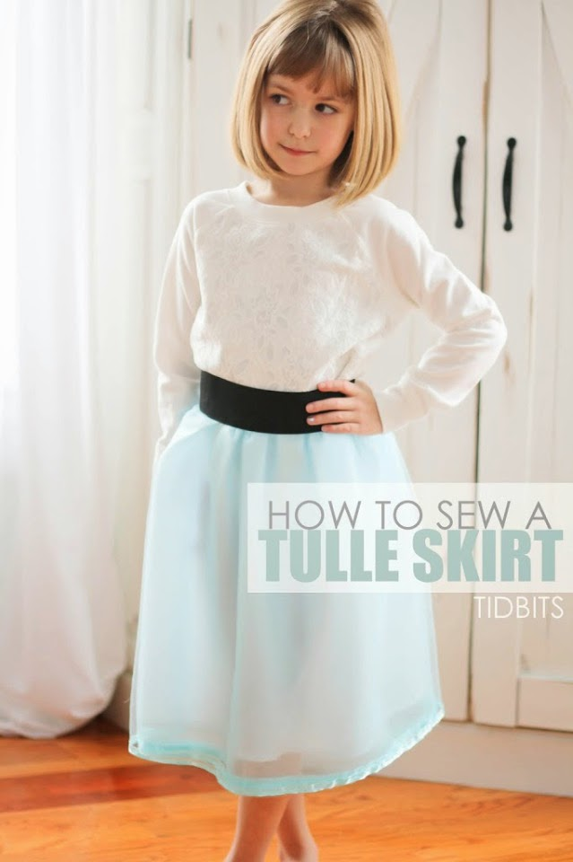 Free sewing Tutorial on Tulle skirt