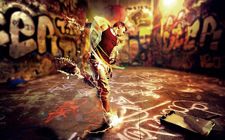 Dance Movement Boy Graffiti Rhythm Energy Music Style Creative HD Wallpaper