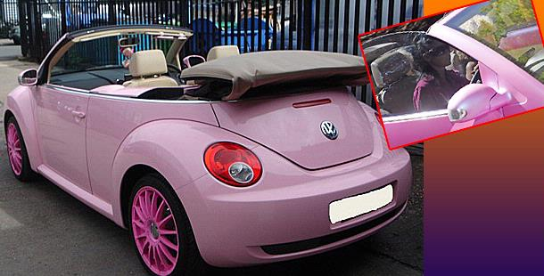 electric cars katie price loves pink cars collection including electric cars. Black Bedroom Furniture Sets. Home Design Ideas