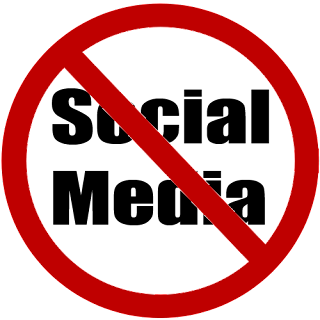 no social media sign