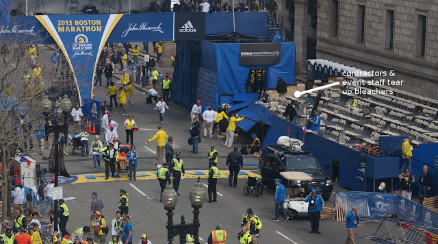 """Contractors"" at Boston Marathon Stood Near Bomb, Left Before Detonation TearUpBleachers"
