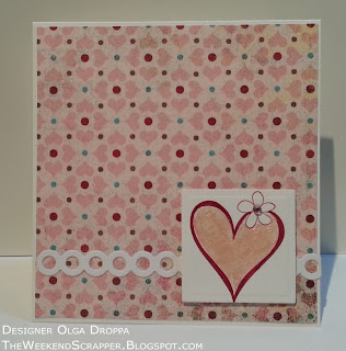 Handmade card using Basic Grey Blush paper and Stampin'Up Time Well Spent stamp 