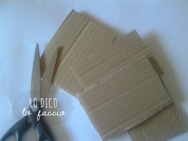 come fare timbri con spago e cartone