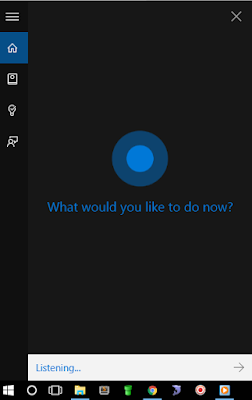 cortana is listening now
