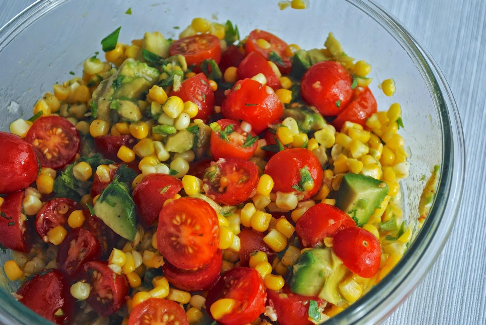 Our Mush Push: Corn, Avocado and Tomato Salad with Honey ...