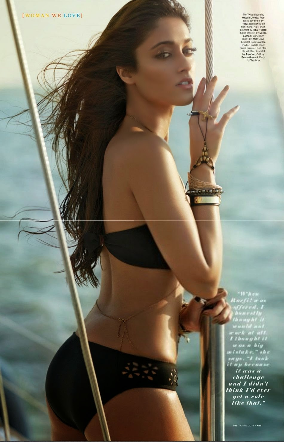 Ileana Bikini Poses For Man World
