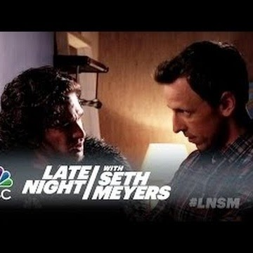 humor, late night show, jon snow, kit harington, seth meyers,