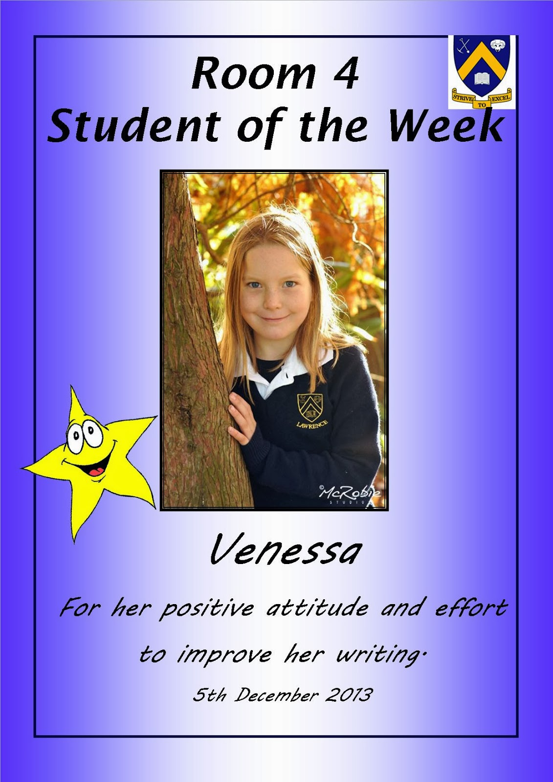Room 4 lawrence area school student of the week venessa student of the week venessa xflitez Choice Image