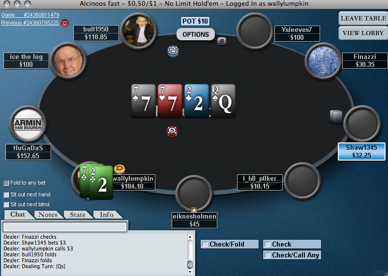 Multi Tabling Full Tilt Poker with Poker Tracker 3 Heads Up Display on VMWa