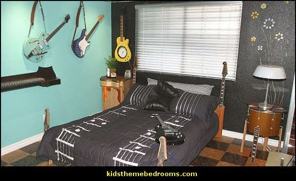 Music Themed Bedroom Decorating Ideas Guitar Theme Bedrooms