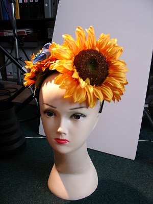 sunflower fascinator headband ggs ascot bridal vintage style pinup