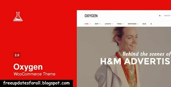 Oxygen - WooCommerce WordPress Theme Free Download