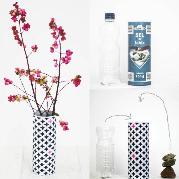 How To... Wie mach eich mir eine schnelle Blumenvase selber - Anleitung Upcycling
