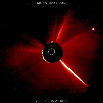 lovejoy llegando al Sol 15 de Diciembre 2011