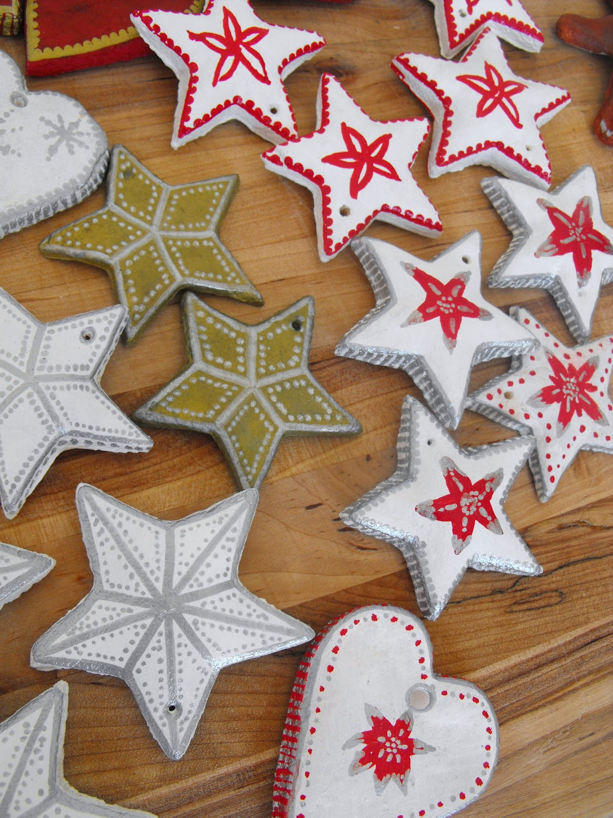 How To Make Christmas Tree Ornaments With Dough : Ruby murrays musings salt dough christmas tree ornaments