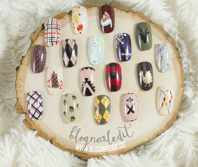 Fall & Thanksgiving Nail Art Samples