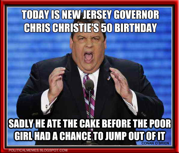 New Jersey Governor Chris Christies Birthday