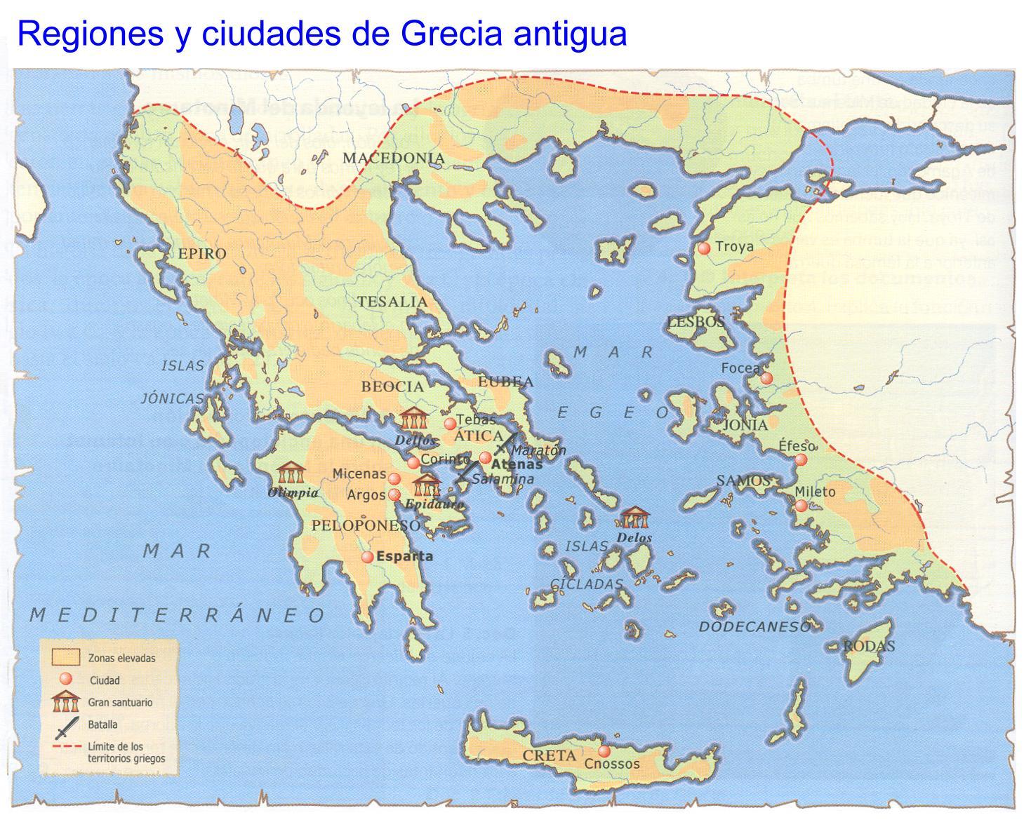 la geografia de grecia: