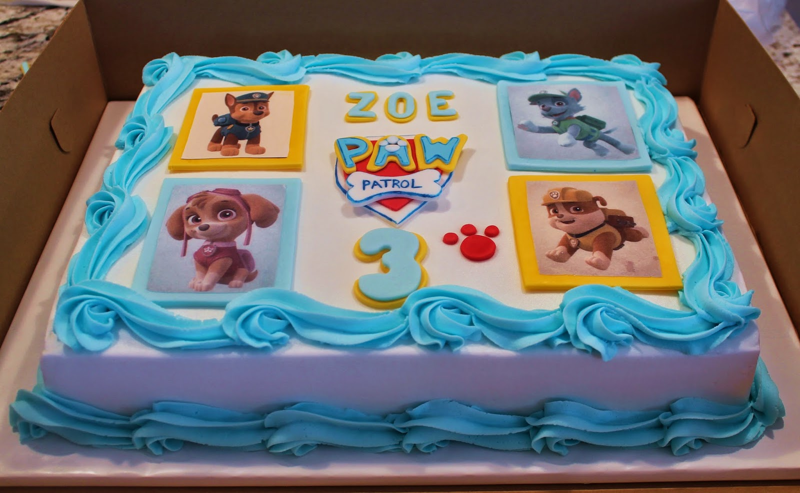 Gallery For gt Paw Patrol Sheet Cake