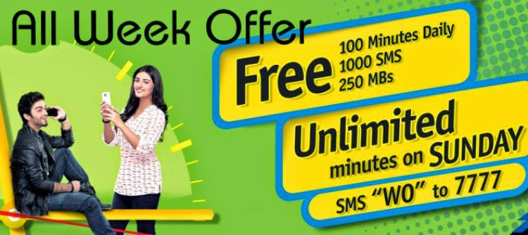 Warid Glow All Week Offer Packages 2015