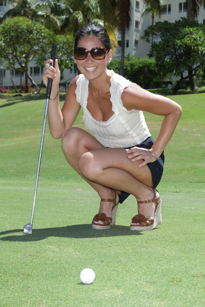 Olivia Munn - Hollywood Domino Golf Tournament in Puerto Rico