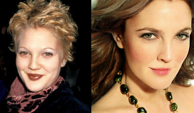 drew barrymore thin and thick brows