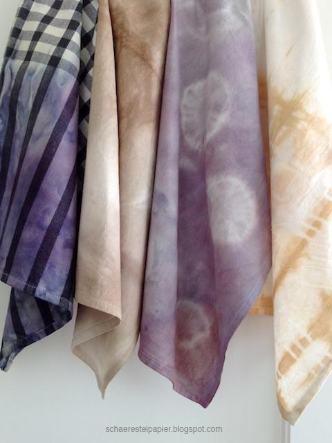 Stoffe Färben schaeresteipapier mit pflanzenfarben stoffe färben workshop teil 2