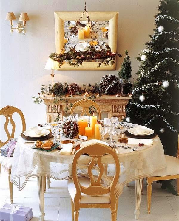 mesa do natal bege