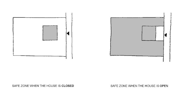 Illustration of safest house walls